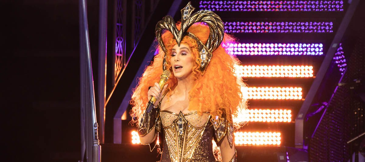 Cher in concert, Little Caesars Arena, Detroit, USA - 12 Feb 2019