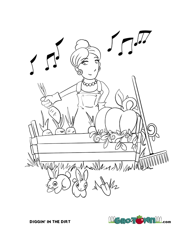 Gro-Town Coloring Book page