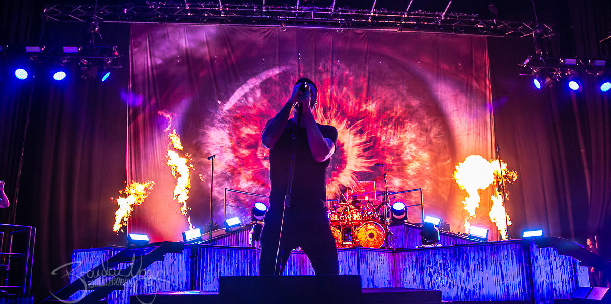 Breaking Benjamin in concert, DTE Energy Music Theatre, Clarkston, USA - 24 July 2019