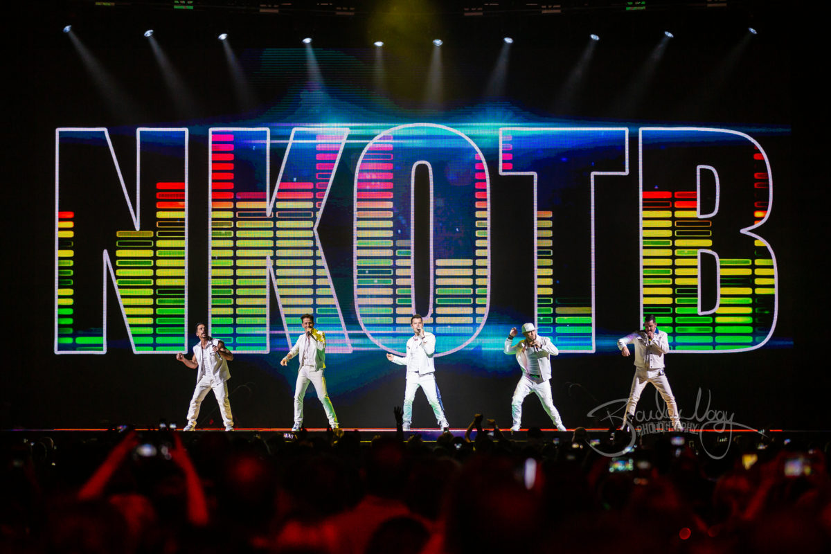 New Kids On The Block in concert, Little Caesars Arena, Detroit, USA